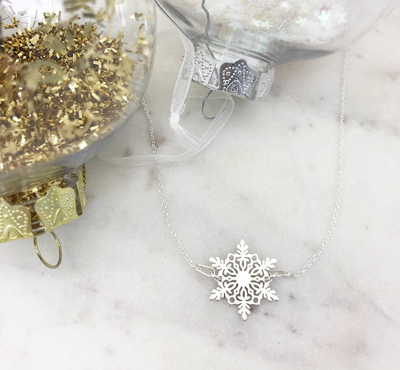 Snowflake Connector Necklace