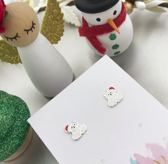 Christmas Polar Bear Earrings