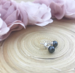 Swarovski Pearl Earrings - Black