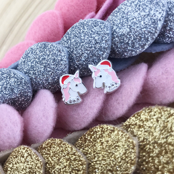 Christmas Unicorn Earrings