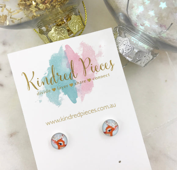 Rudolph Picture Earrings