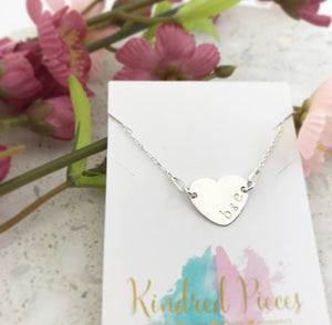 Initial Heart Connector Necklace