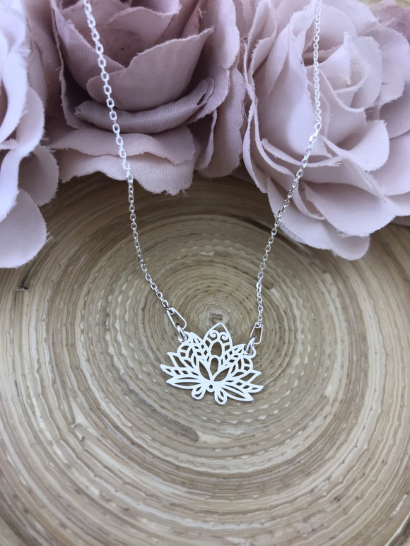 Lotus Flower Connector Necklace
