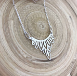Peacock Feather Connector Necklace