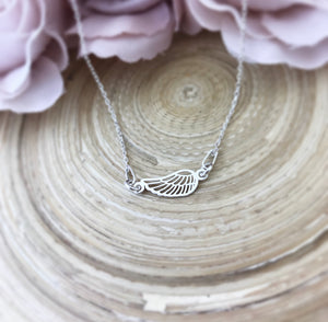 Small Angel Wing Connector Necklace