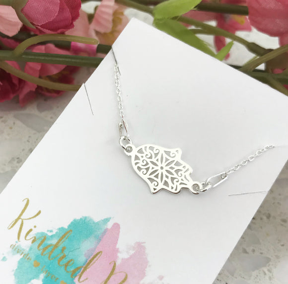Hamsa Connector Necklace