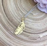 Feather Pendant (Gold)