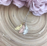 Feather Pendant (Rose Gold)