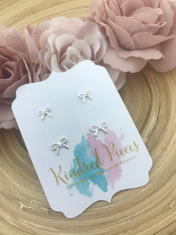 Beautiful Bow Mother Daughter Earrings Set
