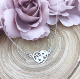 Decorative Initial Heart Necklace