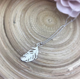 Feather Pendant (Silver)