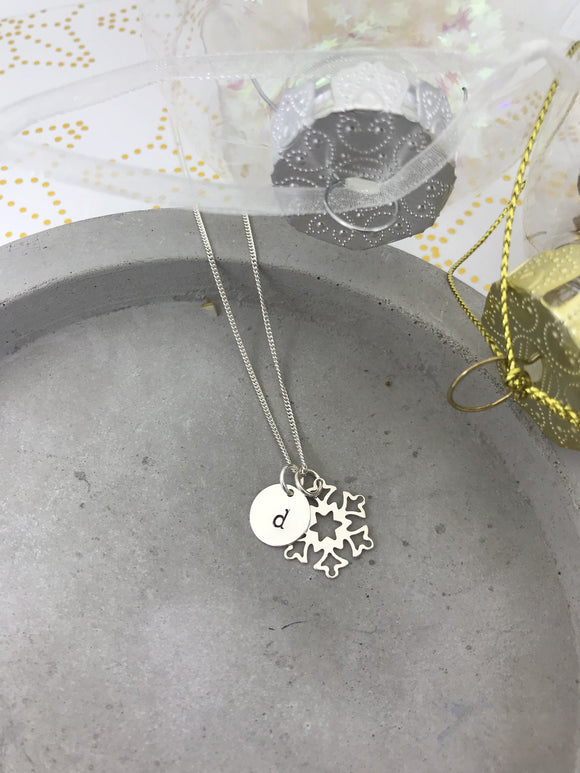 Frozen Inspired Snowflake Necklace