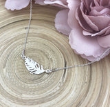 Feather Connector Necklace (Silver)