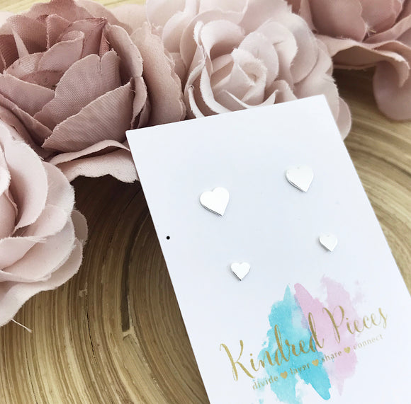 Sweet Hearts Earrings Set