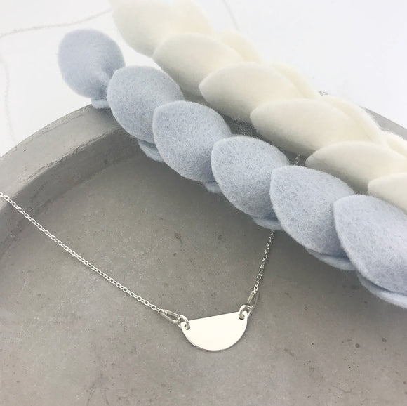 Half Moon Connector Necklace