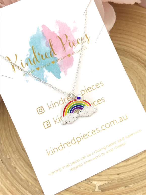 Rainbow Necklace With Crystal