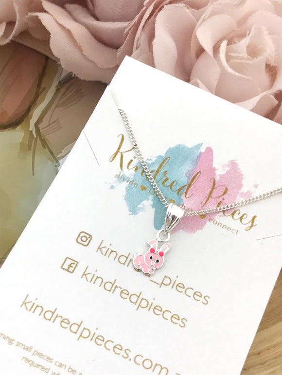 Pink Bunny Necklace