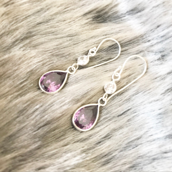 Amethyst Teardrop Earrings