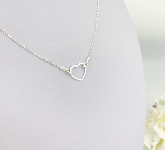 Heart connector necklace