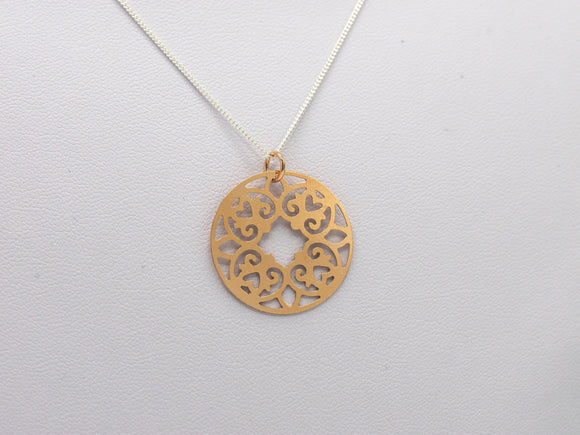 Rosette pendant - rose gold