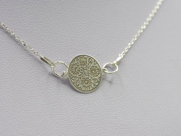 Folk Print Connector Necklace