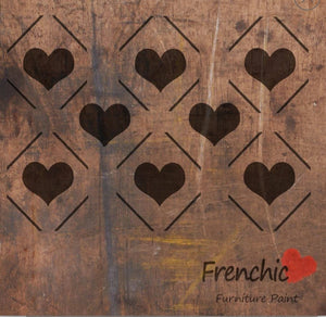 Frenchic Diamond Hearts stencil