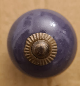 Ceramic handle purple