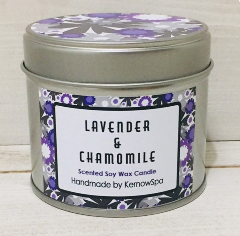 KernowSpa Lavender and chamomile Candle Tin