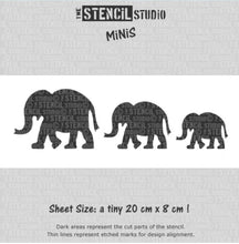 Load image into Gallery viewer, Stencil Mini elephants