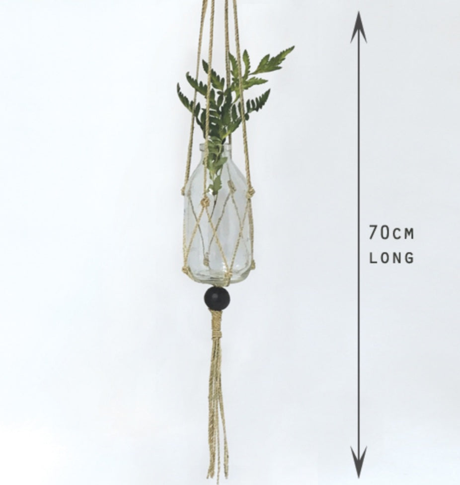 Macrame Seagrass pot holder 70cm
