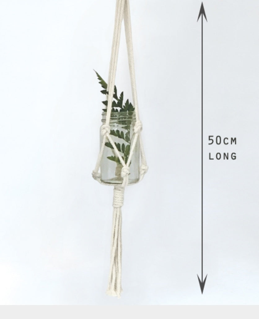 Macrame pot holder 50cm