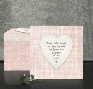Square heart wooden box