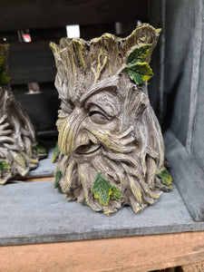 Green man tealight holder