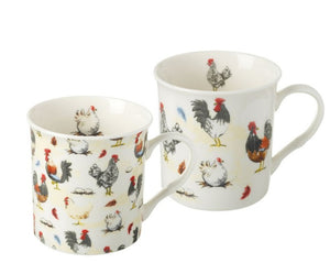 SALE  Rooster Mug set of 2