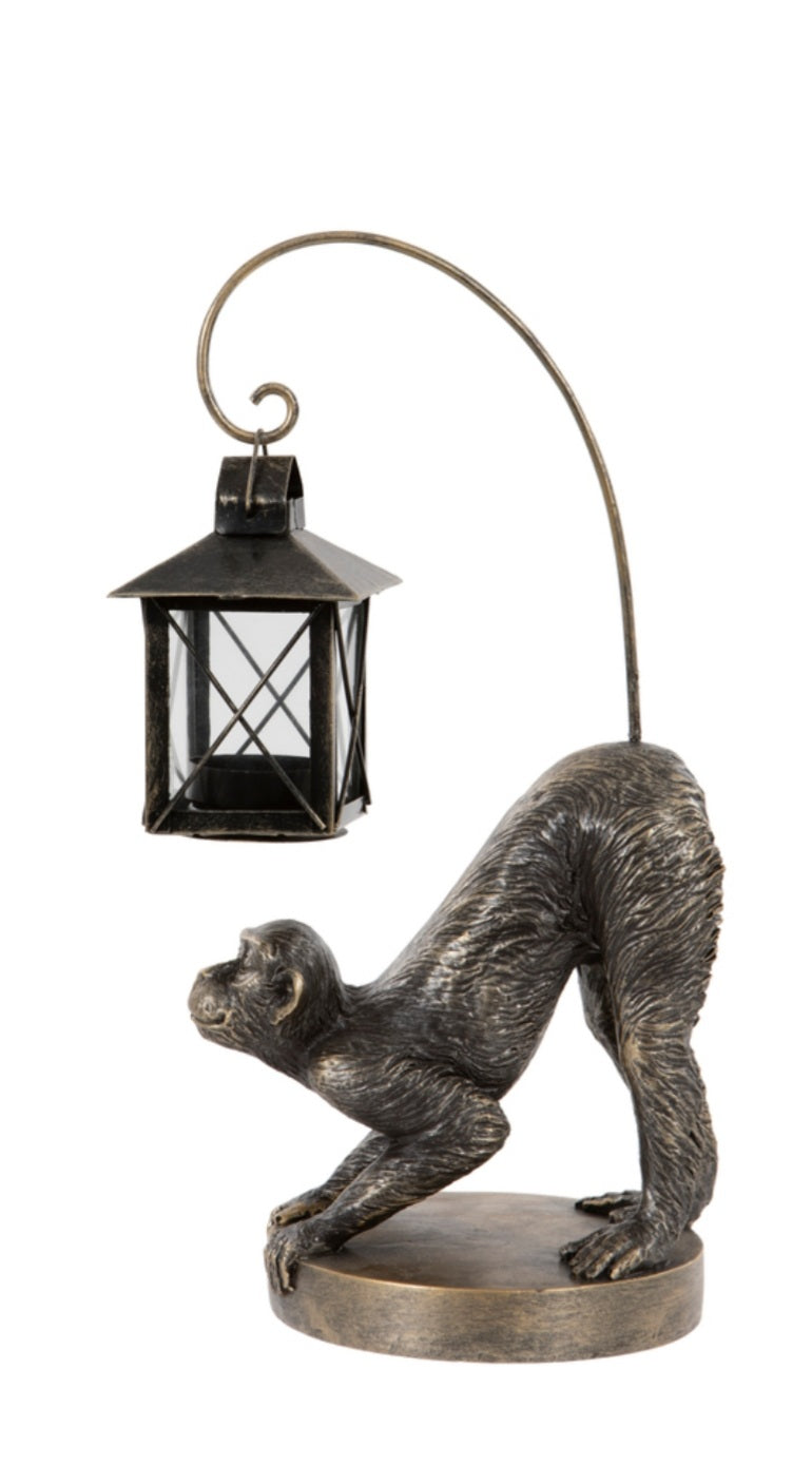 Tealight Lantern Monkey