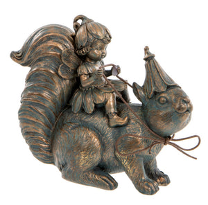 Fairy on squirrel