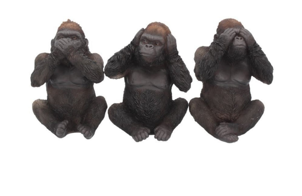 Three Wise Gorillas