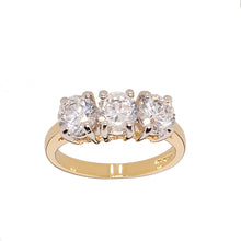 Load image into Gallery viewer, Classic Three Stone Diamond Cubic Zirconia Ring