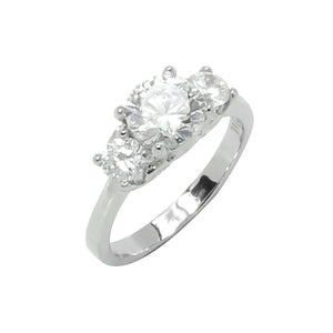 Classic Round Prong Set Cubic Zirconia Engagement Ring