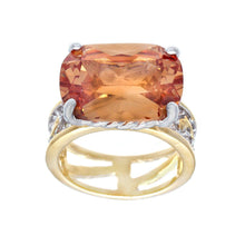 Load image into Gallery viewer, Special Cut Champagne Cubic Zirconia Fashion Ring