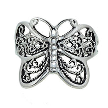 Load image into Gallery viewer, Delicate Filigree Look Butterfly Ring with Antique Finish
