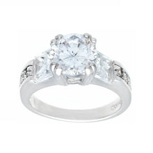 Load image into Gallery viewer, Contemporary Solitaire Engagement Princess Cut Ring