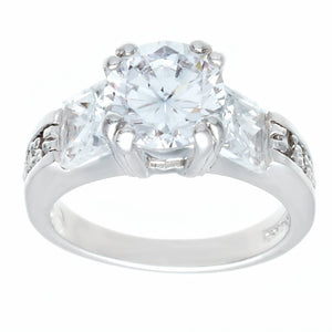 Contemporary Solitaire Engagement Princess Cut Ring