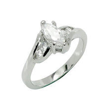 Load image into Gallery viewer, Marquise Cut 6-Prong Set Offset Tiny Stones Ring