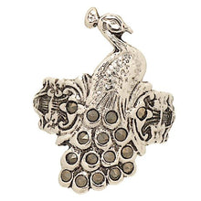 Load image into Gallery viewer, Vintage Looking Peacock Ring Set with Genuine Marcasite