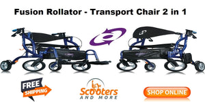 Fusion rollator 2 in 1
