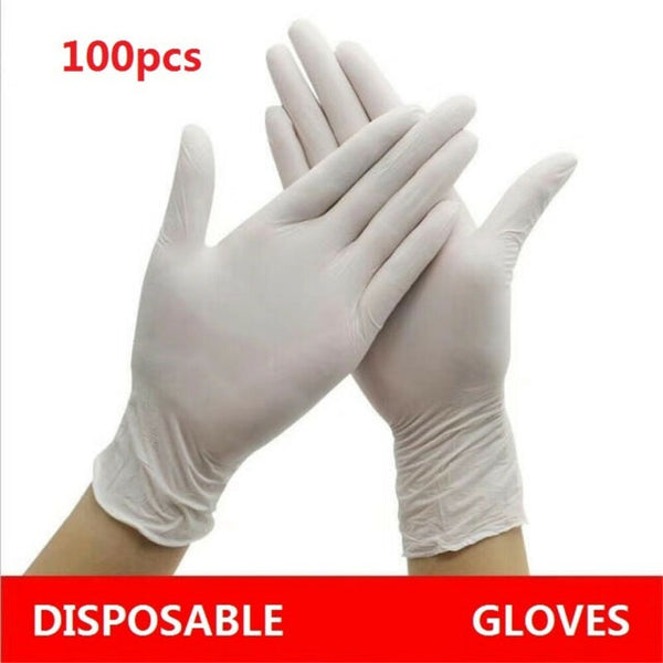 100 Pcs Latex Disposable Gloves Powdered - Scooters and more