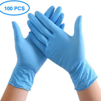 100 Pcs Nitrile Disposable Gloves Powder Free Rubber Latex Free Gloves - Scooters and more