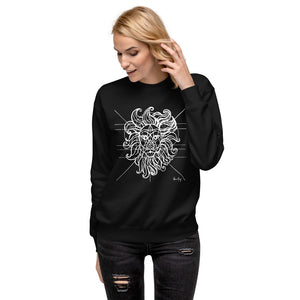 Sacred Geometry on Black Unisex Fleece Pullover