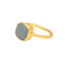 Load image into Gallery viewer, Gold Aquamarine Ring